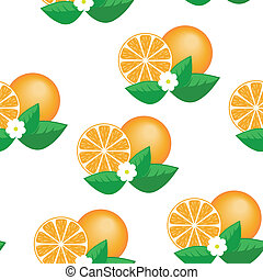 Orange seamless pattern - seamless pattern of orange and...