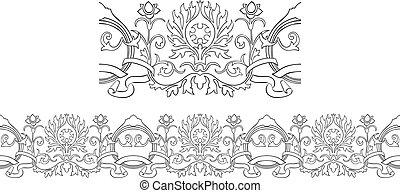 Victorian style repeating border - Stylized Victorian style...