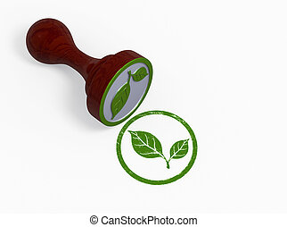 Green environment stamp - Green stamp-environmental concept