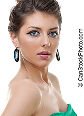 young brunette woman - beauty portrait of young brunette...
