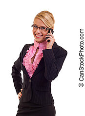 business woman calling
