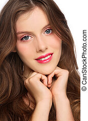 Beautiful teen - Close-up portrait of young beautiful...