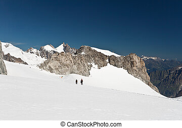 Mont Blanc massif - Mer de glace glacier