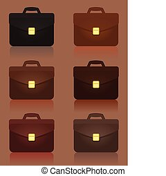 Set of icons business of portfolios. A vector illustration