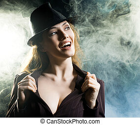 girl in the smoke