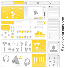 Musical site - Site on a musical theme. A vector...