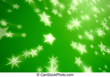 green star background - green star glow abstract background