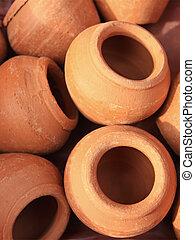 Handmade pottery for garden decoration