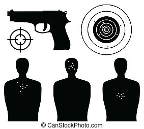 Shooting gallery - Target of a figure of the person and...