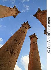 Corinthian Column in Jerash (Jordan
