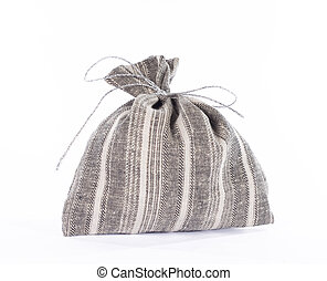 Traditional style linen gift bag. - Traditional style linen...