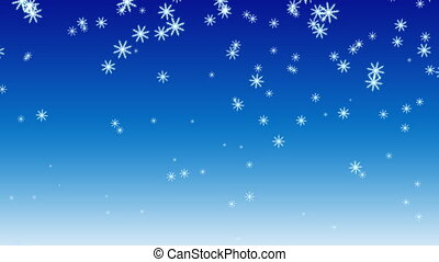 Snow HD - Animation of snowflakes