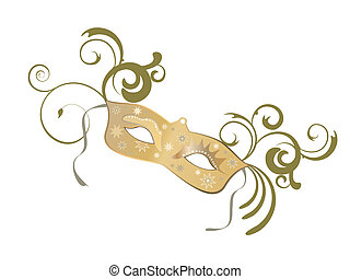 venetian mask - vector illustration of an elegant venetian...