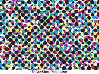 cmyk dot pattern, vector