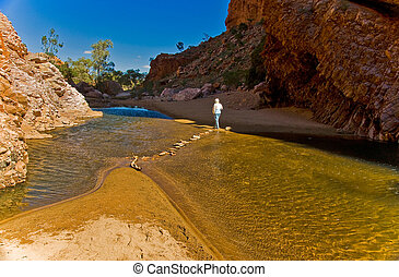 Walpa Gorge in the australian outback, northern territory