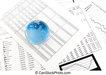 Crystal Ball on the financial section of a newspaper.