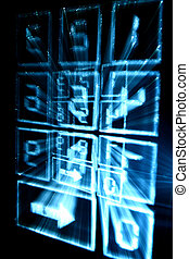 cyber numpad abstract in motion dark
