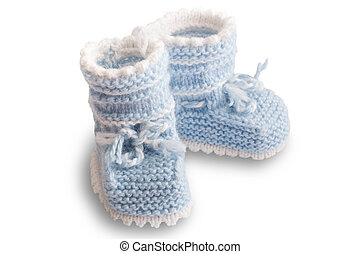baby's bootee - Little baby's bootee light blue for newborn