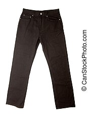 Trousers - Simple black trousers isolated on white...