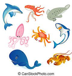 Sea inhabitants