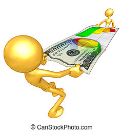 Gold Guys Stretching Money - A Concept And Presentation...