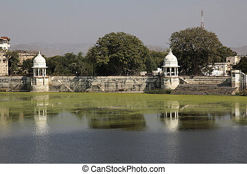 Udaipur,  sagar, Lac,  fateh