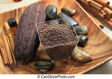 Cocoa spa - Spa resort treatment composition - cocoa flavour...