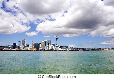 Auckland City, New Zealand by day 3 - Auckland City and Sky...