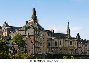 View on the old center of Luxembourg City