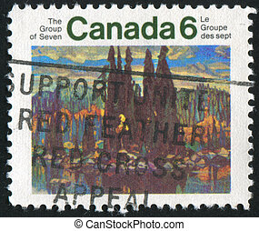 stamp - CANADA - CIRCA 1970: stamp printed by Canada, shows...