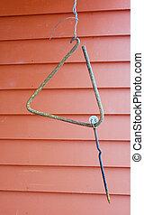 Dinner bell on farm - Triangle dinner bell on family farm...