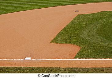 baseball infield grass dirt bases