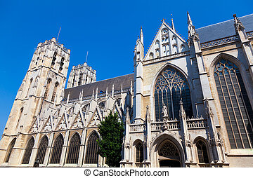 Cathedral in Brussels, Belgium - St. Michael and St. Gudula...