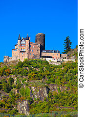 "Castle ""Burg Katz"" in Germany - Burg Katz (or Burg..."