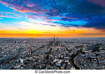 Paris, France - Panorama of Paris, France.