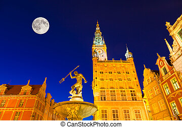 Illuminated Landmarks in Gdansk - The Landmarks of Gdansk,...