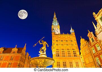 Illuminated Landmarks in Gdansk - The Landmarks of Gdansk,...