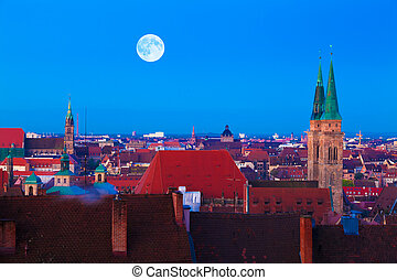 Nuremberg (Nürnberg), Germany - Panorama of the German city...