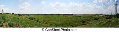 Ukrainian wildlife preservation, panorama, a background