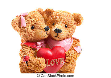 Valentine Teddy Bears, hugging - Valentine Hugging Teddy...