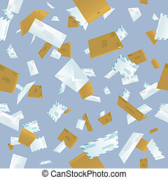 Seamless tumbling mail background