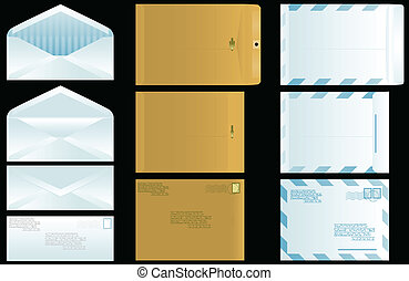 Envelope set - Three types of envelopes front, back, open...