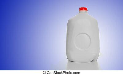 galão, caixa papelão, leite
