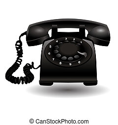 Black Telephone - Stock vector of conservative black...