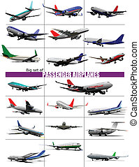 Big set of twenty passenger Airpla