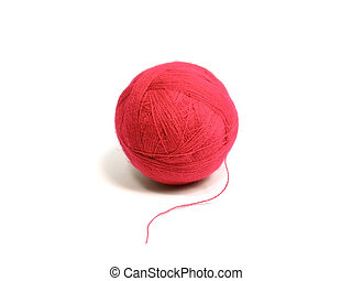 red wool ball