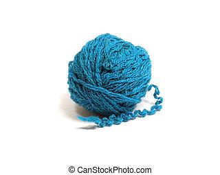 blue wool ball