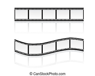 filmstripes - vector illustration of simple filmstripes with...