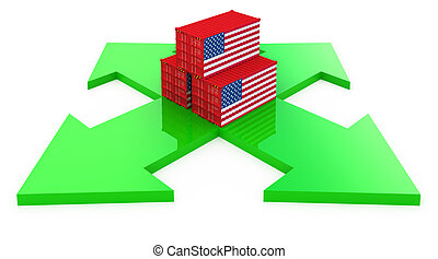 cargo containers from USA