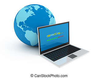 Internet globalization concept isolated on white